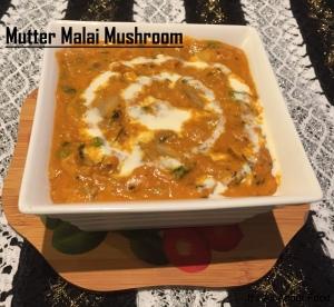 Mutter Malai Mushroom11